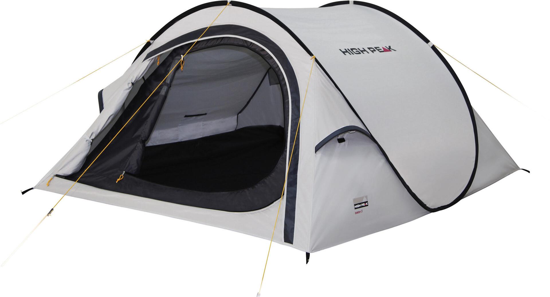 High Peak Boston 2 Tent aluminiumdark grey   Gode tilbud